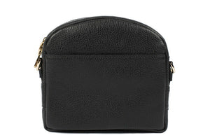 Velvet By Fridays On Curatelier Kate Genuine Calf Leather Ladies' Shoulder Bag in Black (Back View Without Strap)