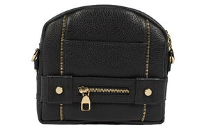 Velvet By Fridays On Curatelier Kate Genuine Calf Leather Ladies' Shoulder Bag in Black (Front View Without Strap)