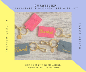"Curatelier ""CHERISHED & BLESSED"" BFF Gift Set"