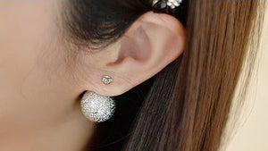 IOTC Double-Sided Crystall Ball Earrings (Model View)