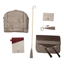 Load image into Gallery viewer, Velvet By Fridays Kate Genuine Calf Leather Ladies' Shoulder Bag in Grey
