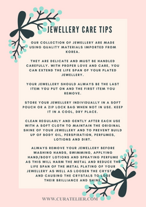Curatelier Jewellery Care Tips