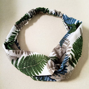 Curatelier Penelope Tropical Island Headband in White