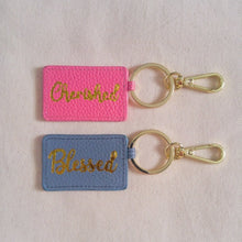 Load image into Gallery viewer, Curatelier Pink Leather Envelope Keychain Bag Charm (Cherished)