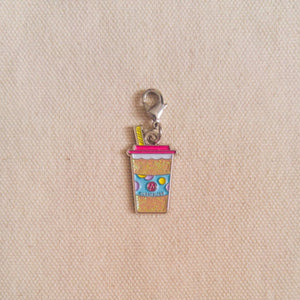 "Curatelier ""Your Friendship Is Soul Refreshing"" Cool Drink Silver Plating Soft Enamel Pendant Charm"