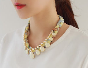 IOTC Summer Vacation Chiffon Bead Necklace (Model View)