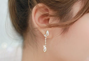 IOTC Pearl Crystal Earrings (Model View)