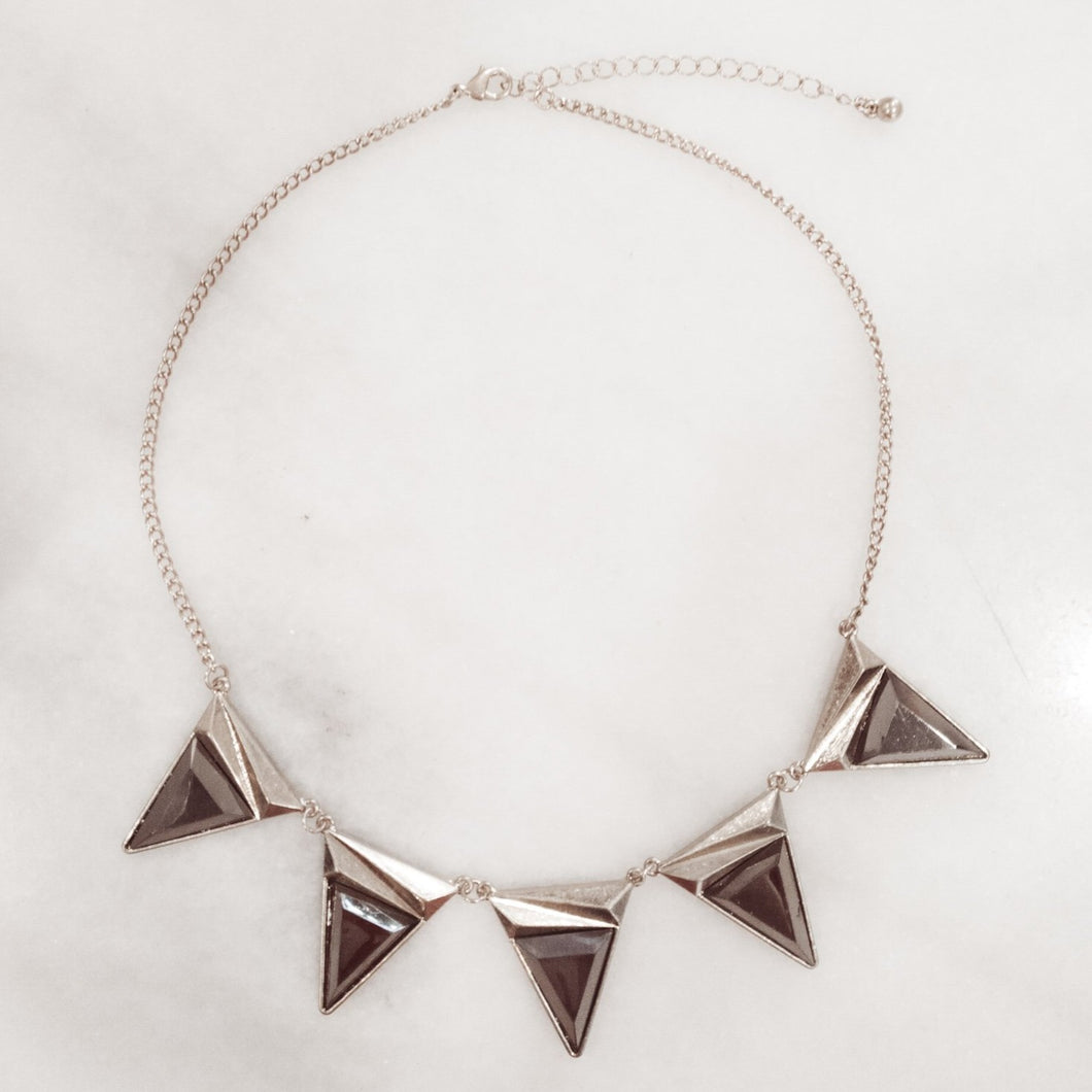 IOTC Jessi Triangle Collar Necklace in Gold