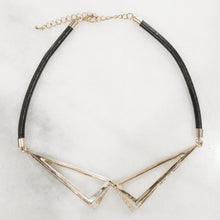 Load image into Gallery viewer, IOTC Aries Chunky Triangle Cut-Out Leather Collar Necklace (More Colours Available)
