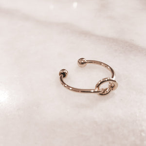 IOTC Twisted Love Knot Ring in Gold