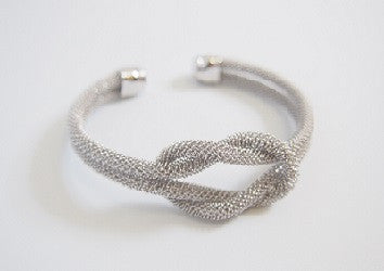 IOTC Infinity Love Knot Bangle in Silver (Front View)