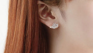 IOTC Princess Crown Crystal Earrings (Model View)