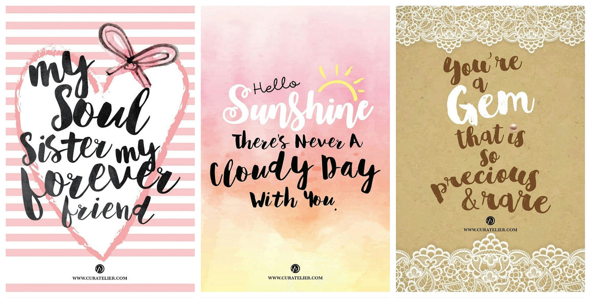 Curatelier Encouragement Postcards To Brighten Your Day (Front View)