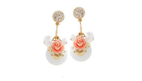 IOTC Blooming Rose Earrings (Front View)
