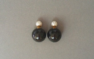 IOTC Double-Sided Pearl Ball Earrings Design 2 (Front View)