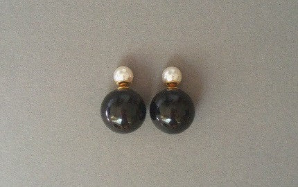 IOTC Double-Sided Pearl Ball Earrings Design 1 (Front View)