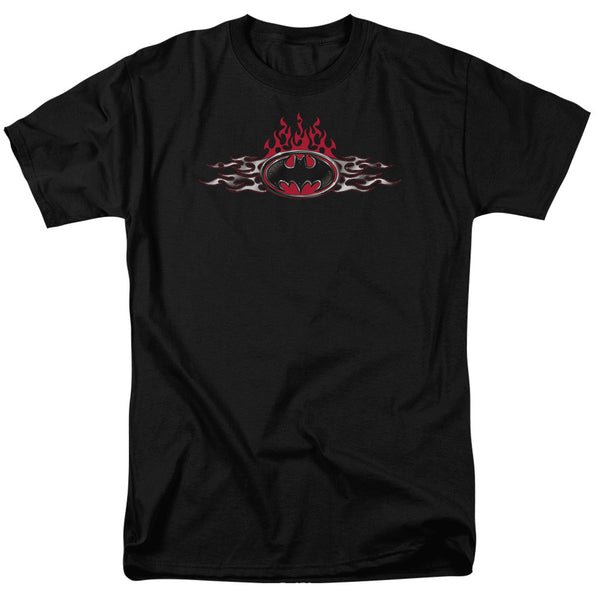 Batman Steel Flames Adult Tee