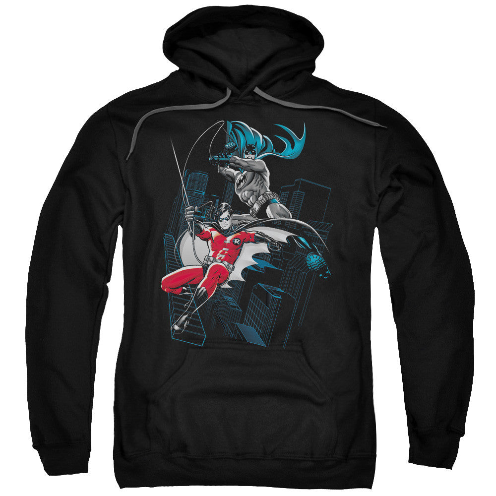 Batman/Robin Black and White Adult Hoodie