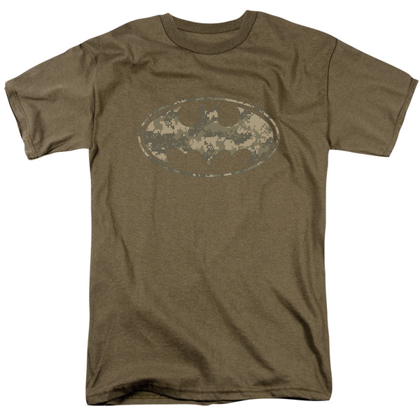 Batman Army Camo Shield Adult Tee