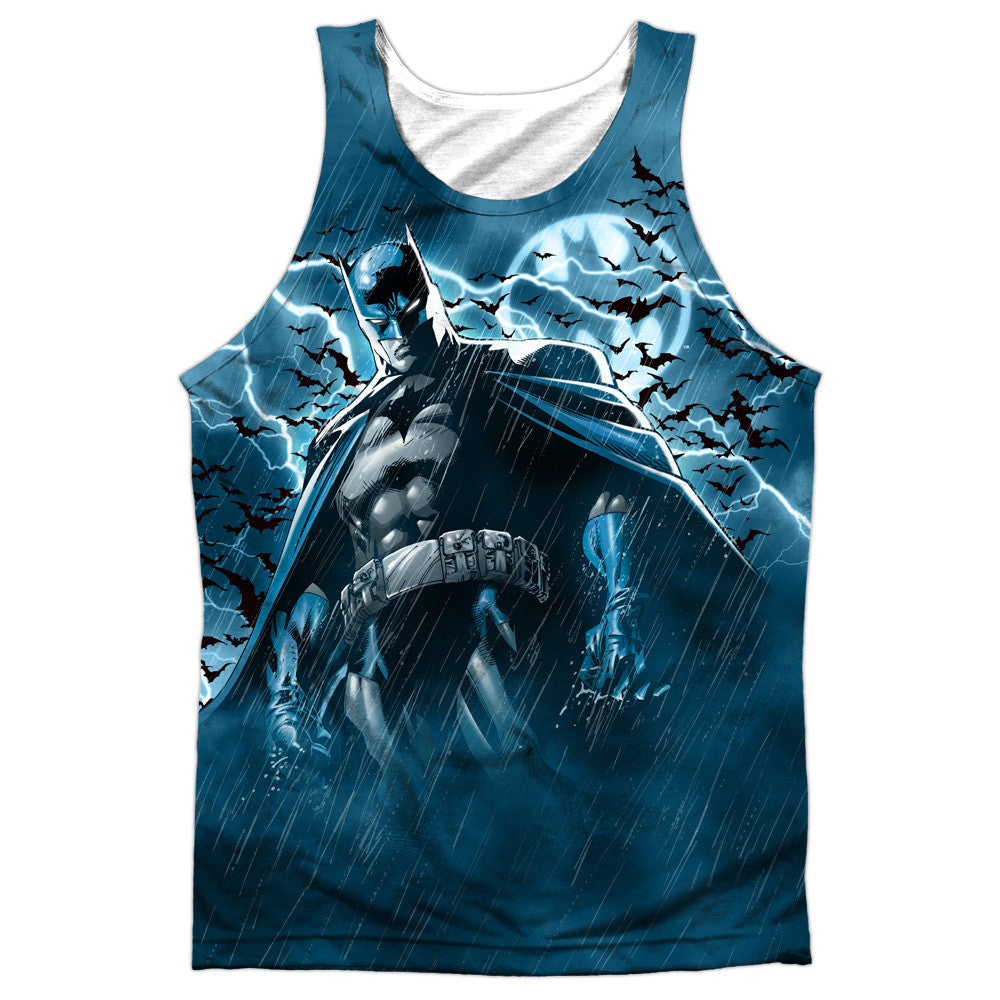 Batman Stormy Knight Adult Tank Top - Front Print Only