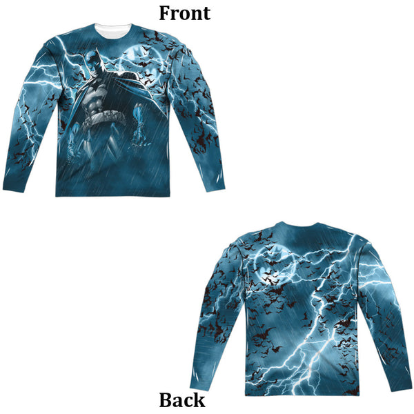 Batman Stormy Knight Adult Long Sleeve - Front And Back Print
