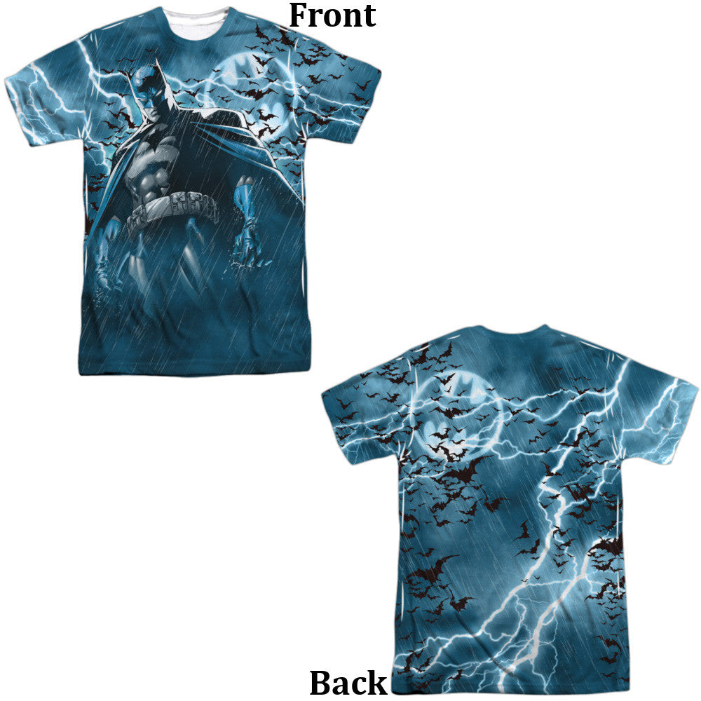 Batman Stormy Knight Adult Tee - Front And Back Print