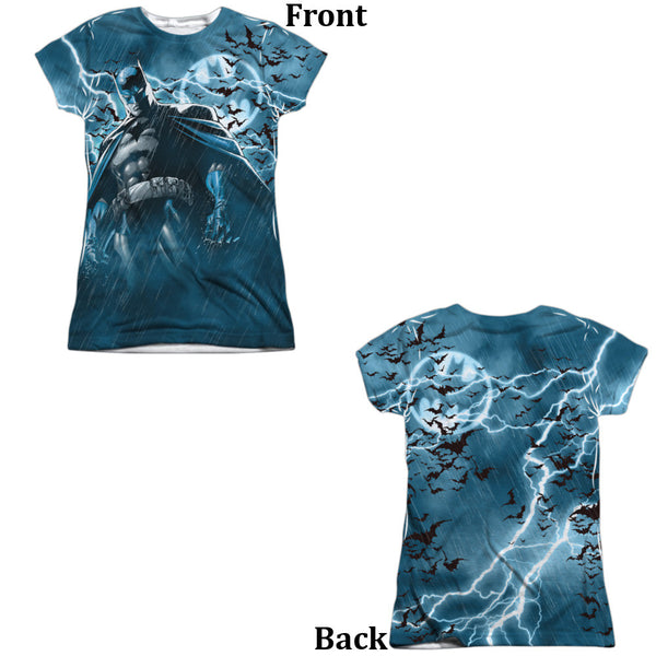 Batman Stormy Knight Juniors Tee - Front And Back Print