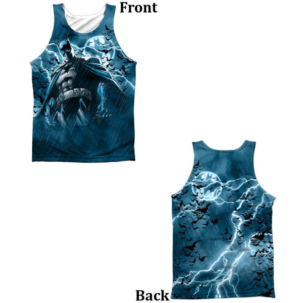 Batman Stormy Knight Adult Tank Top - Front And Back Print