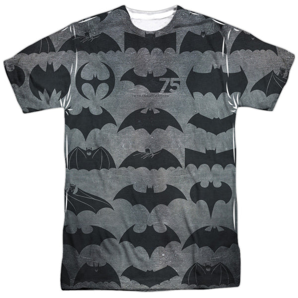 Batman 75 Symbols Adult Tee - Front Print Only
