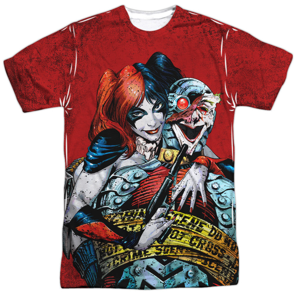 Harley Quinn Crime Scene Adult Tee - Front Print Only