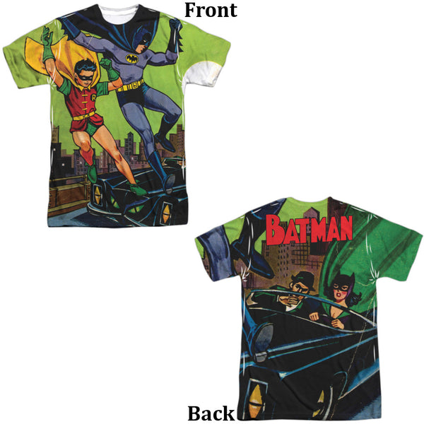 Batman Getaway Adult Tee - Front And Back Print