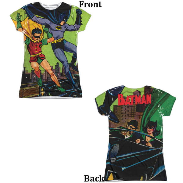 Batman Getaway Juniors Tee - Front And Back Print