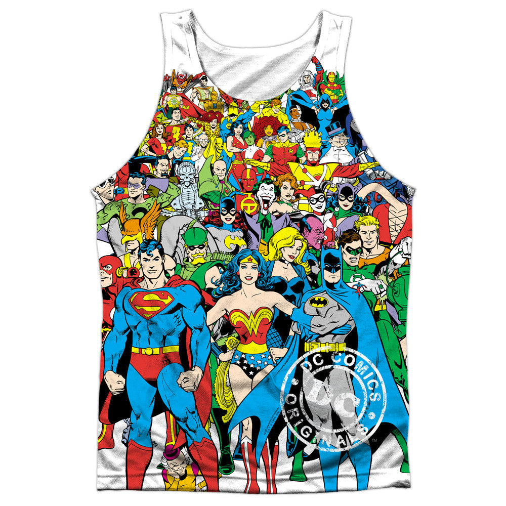 Justice League Original Universe Adult Tank Top - Front Print Only