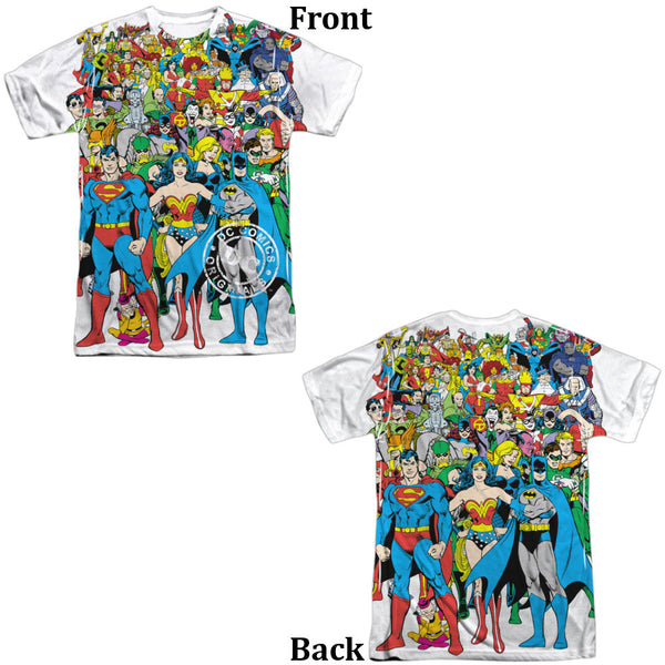 Justice League Original Universe Adult Tee - Front And Back Print