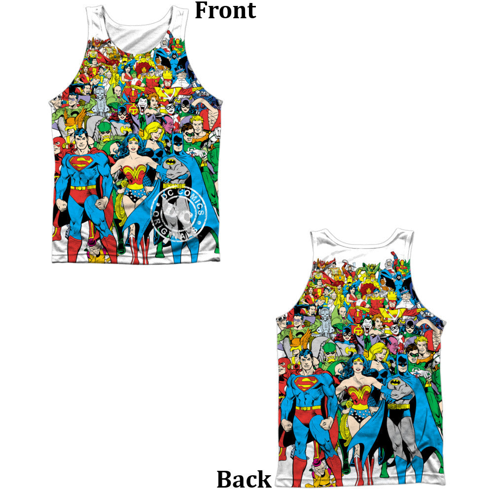 Justice League Original Universe Adult Tank Top - Front And Back Print
