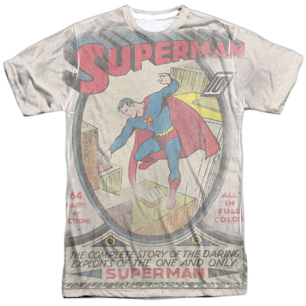 Superman #1 Distress Adult Tee - Front Print Only