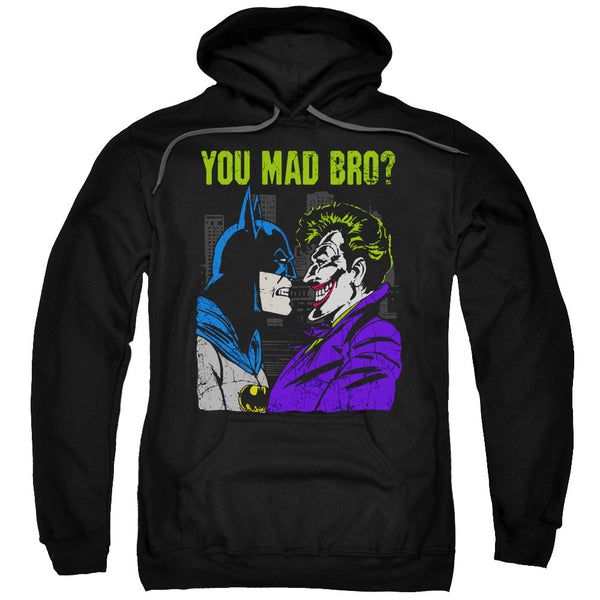 "Batman/Joker ""You Mad Bro"" Adult Hoodie"