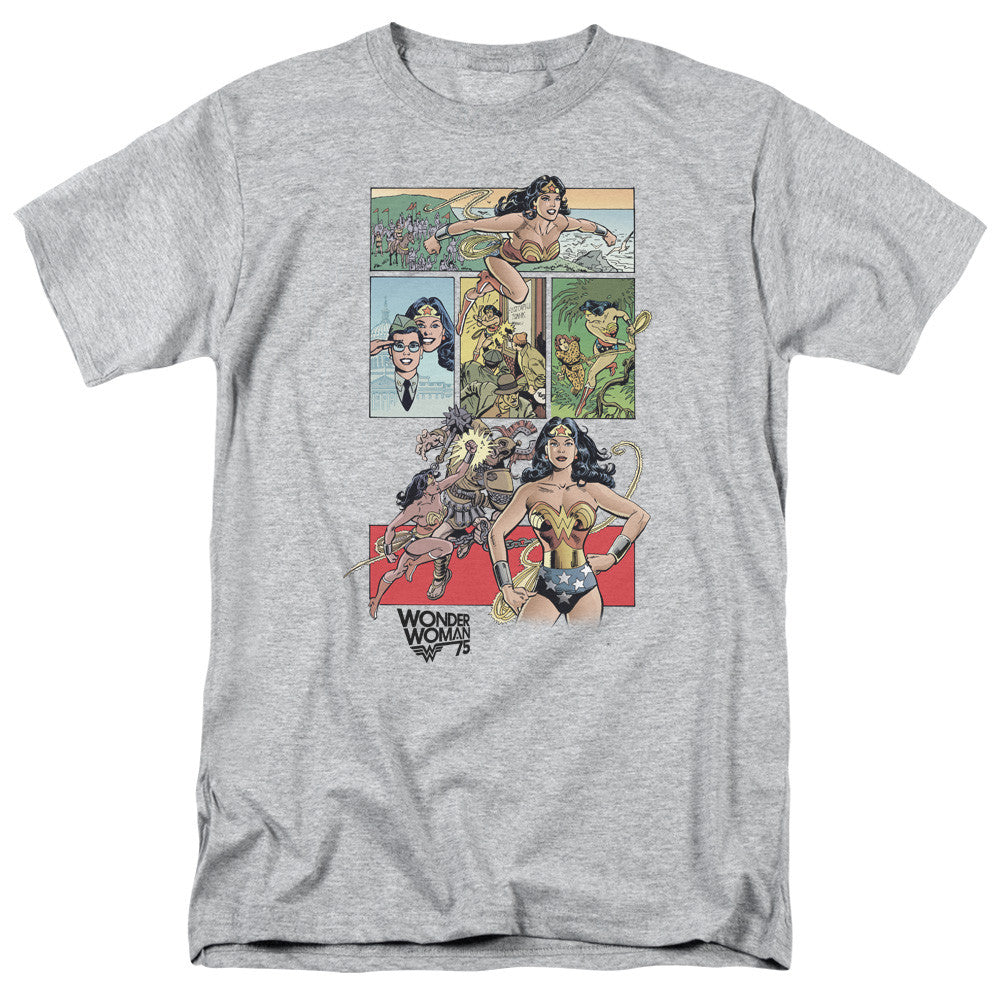 Wonder Woman WW75 Comic Page Adult Tee