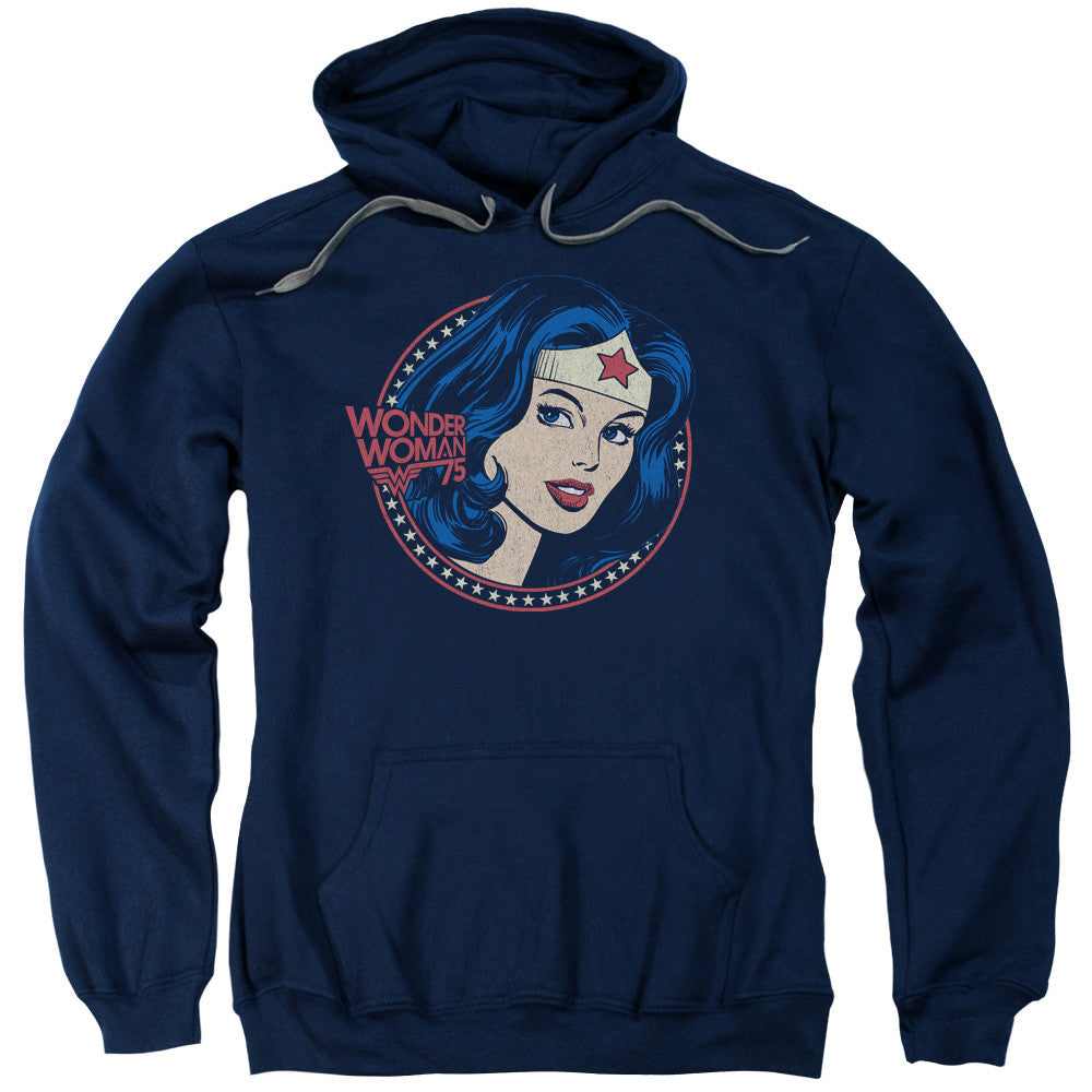 Wonder Woman WW75 Starburst Portrait Adult Hoodie