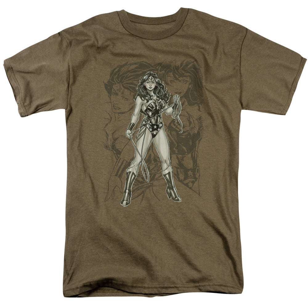Wonder Woman Sketch Adult Tee