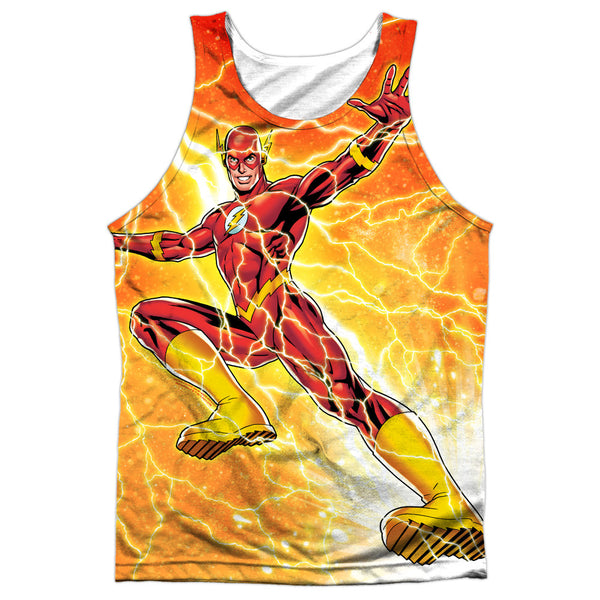 Flash Fast As Lightning Adult Tank Top - Front Print Only