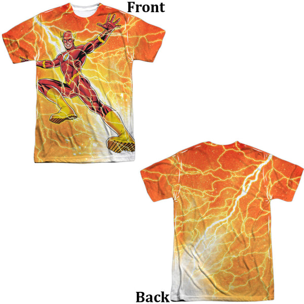 Flash Fast As Lightning Adult Tee - Front And Back Print