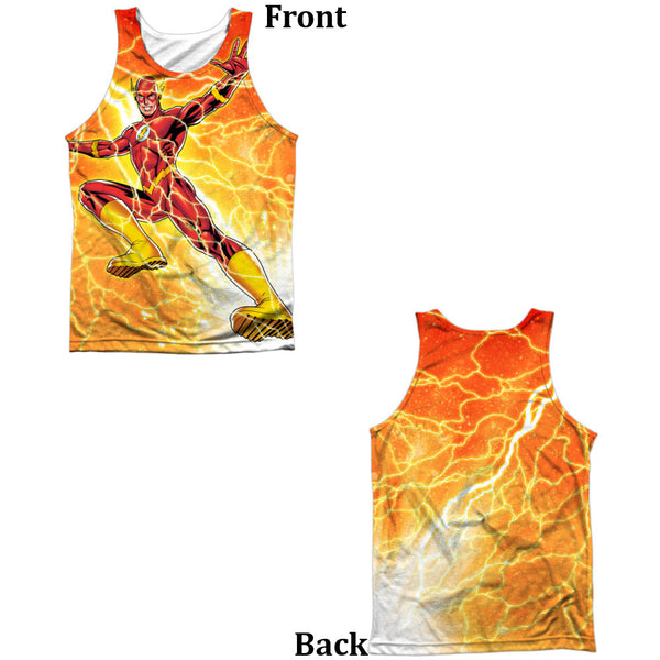 Flash Fast As Lightning Adult Tank Top - Front And Back Print