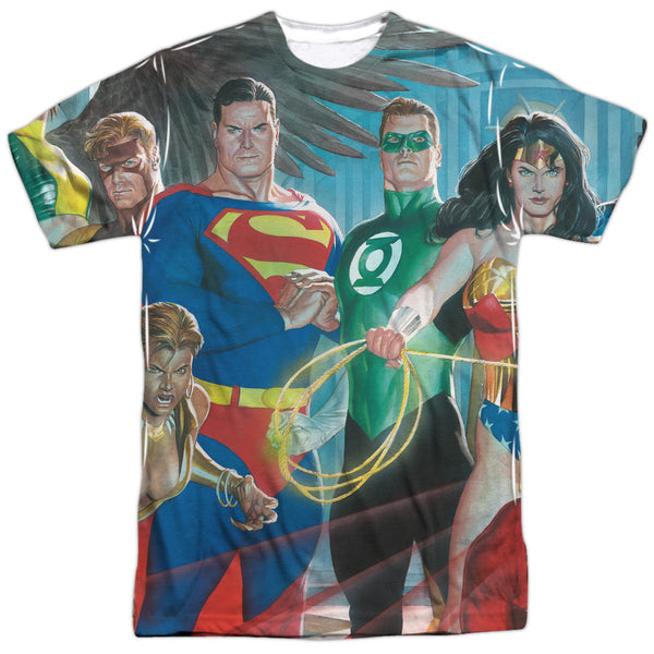 Justice League League of Heros Adult Tee - Front Print Only
