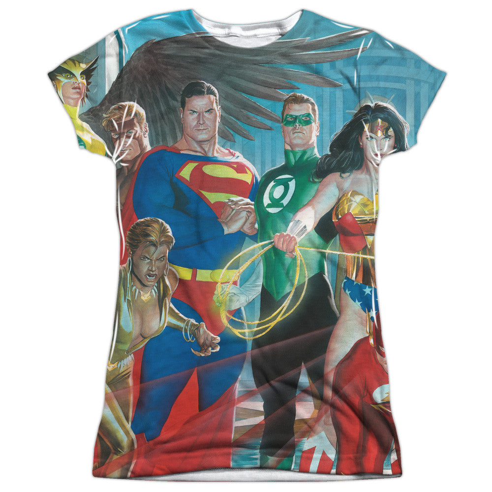 Justice League League of Heros Juniors Tee - Front Print Only