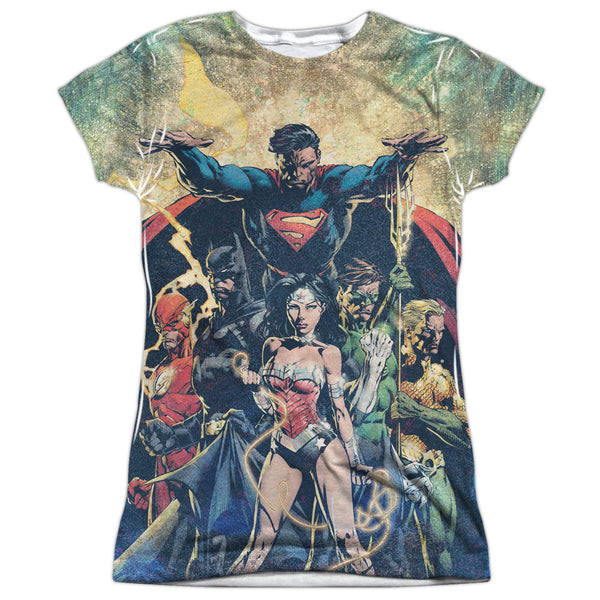 Justice League Power Juniors Tee - Front Print Only