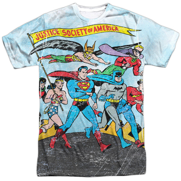 Justice League World Cure Adult Tee - Front Print Only