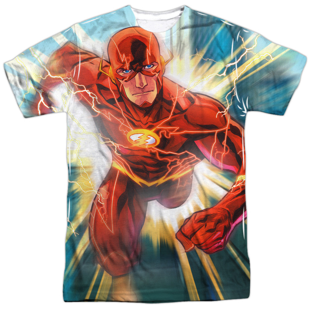 Flash Faster Than Lightning Adult Tee - Front Print Only