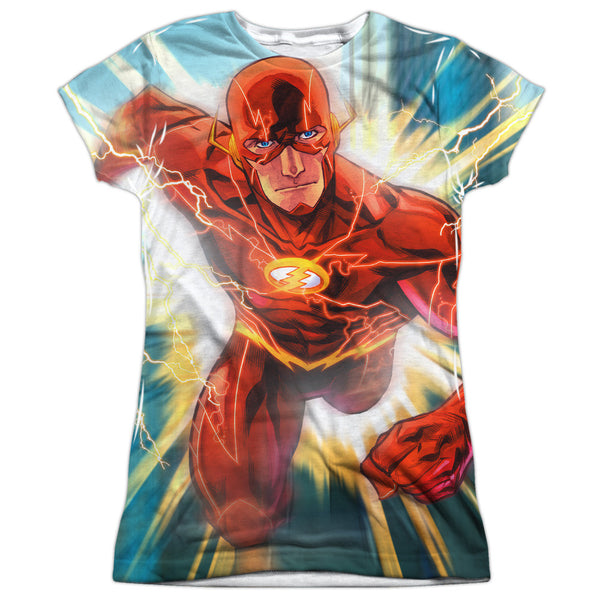 Flash Faster Than Lightning Juniors Tee - Front Print Only