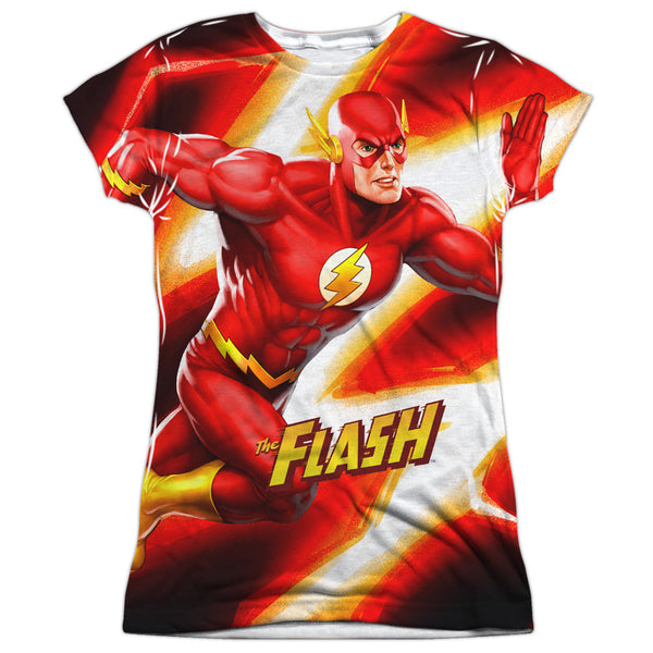 Flash Speed Bolt Juniors Tee - Front Print Only